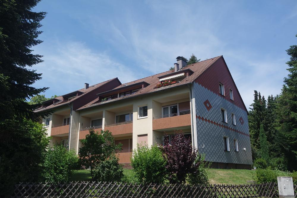 Небольшая 1-комнатная квартира с Южным балконом в красивом тихом жилом районе Бад-Закса.